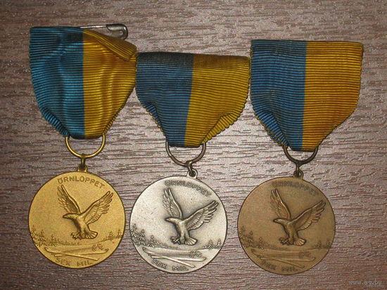 3 медали Швеция
