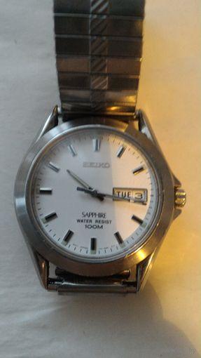 Часы кварцевые Seiko мужские б/у оригинал