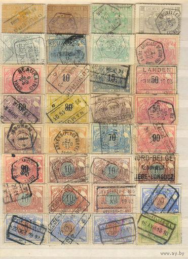 Бельгия Железнодорожные 1879-1968 Стандарт (9 сканов)